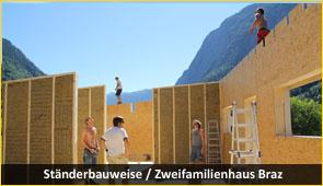 staenderbau - Baustoff Holz